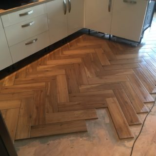 parquet floor mid lay made by for Inspire Joinery and Renovations