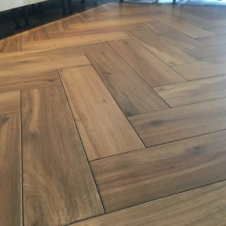 herringbone floor made by for Inspire Joinery and Renovations