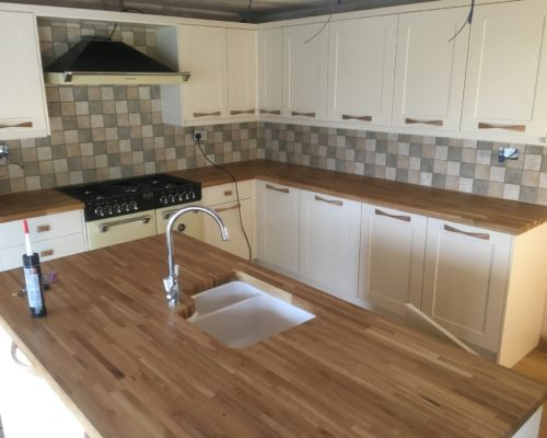 kitchen island and worktop for Inspire Joinery and Renovations