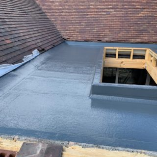 black roof for Inspire Joinery and renovations flat roof repair & fibreglass roofing