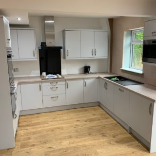 fitten kitchen with wooden floor for inspire joinery and renovations